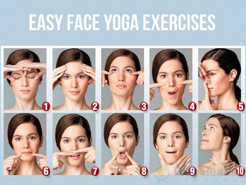 Im Gesicht abnehmen Yoga