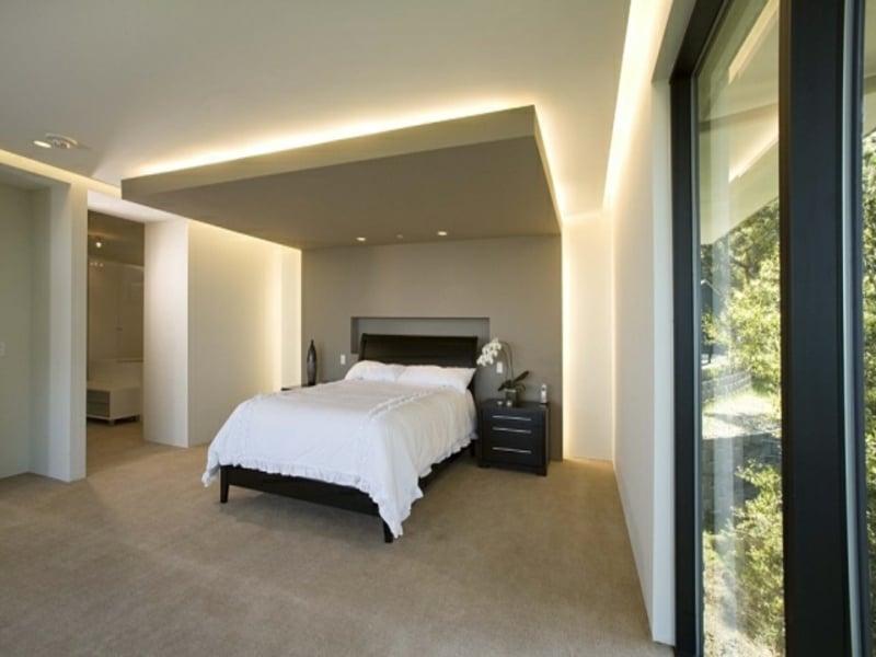 starke indirekte beleuchtung im schlafzimmer