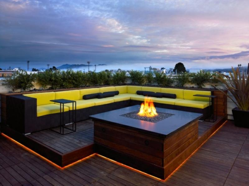 Indirekte beleuchtung - Bodenbeleuchtung terrasse ...