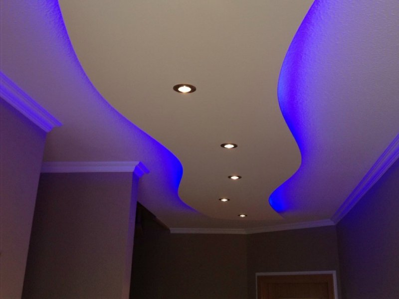 moderne schäne indirekte beleuchtung in blau