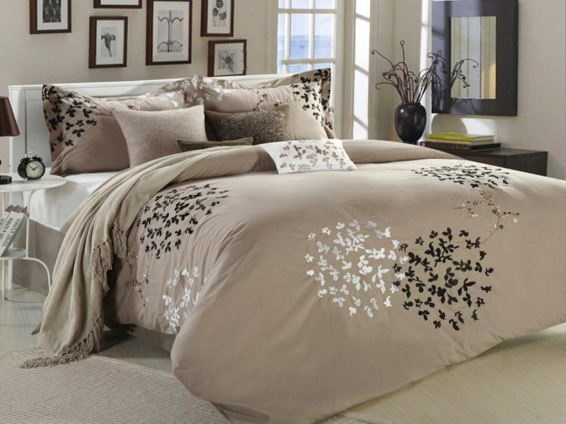 interessante beige luxus bettwäsche