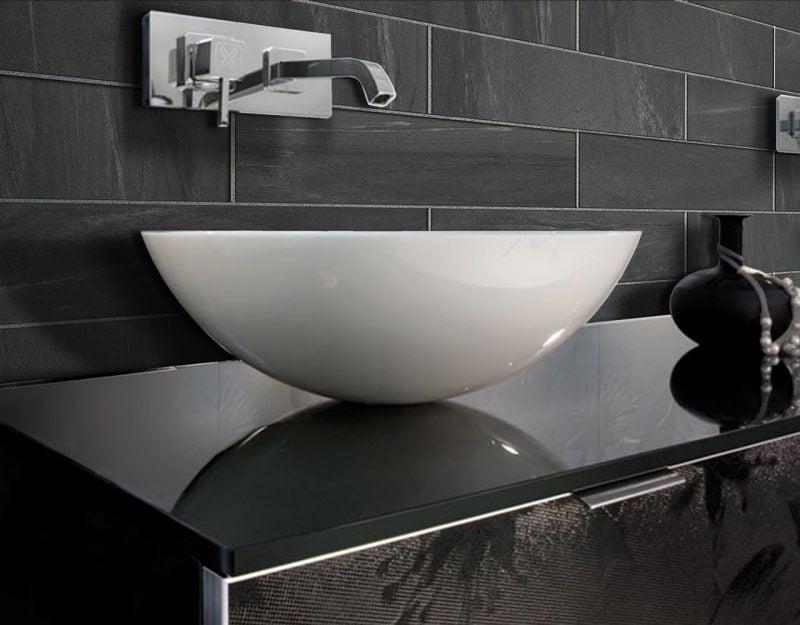 Italienische Fliesen Schwarz Design