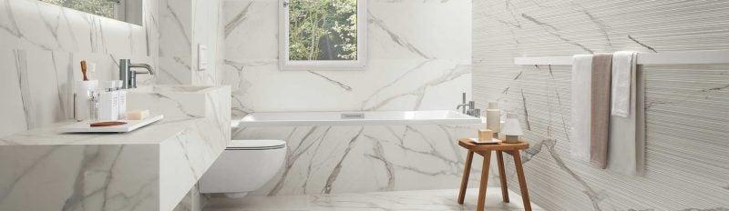 Italienische Fliesen Weiss Marmor