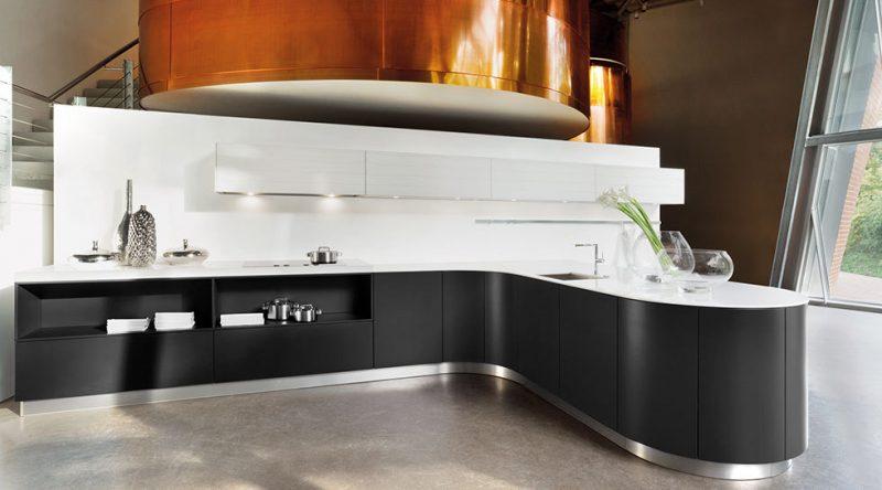 Küchenmarken Haecker schwarzweiss