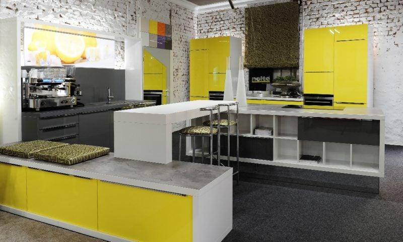 Küchenmarken Nolte gelb