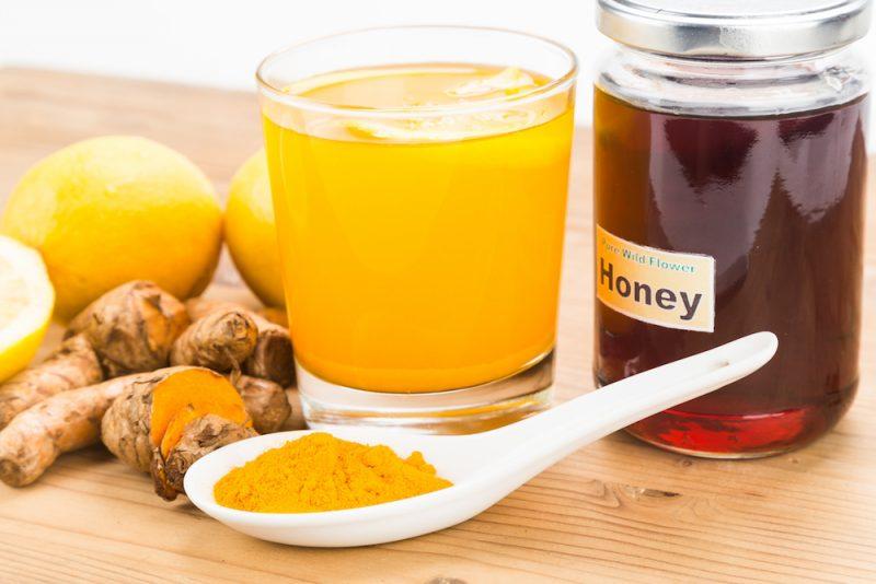 Kurkuma Tee Honig Zitrone