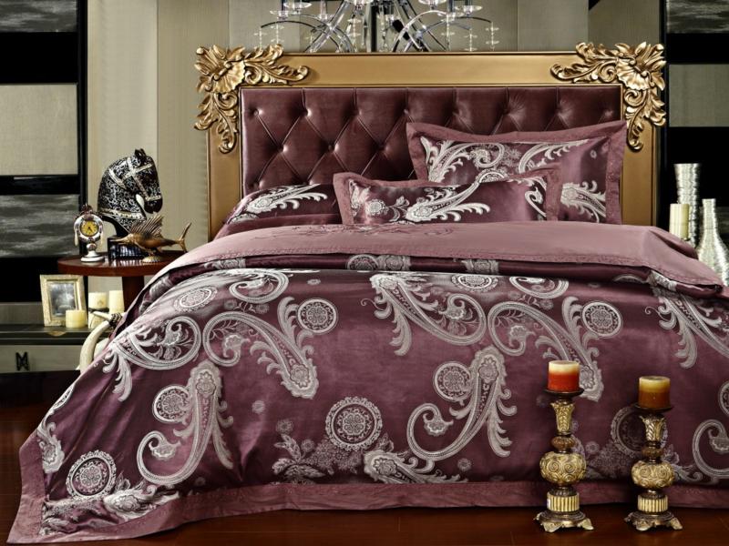lilafarbige luxus bettwäsche