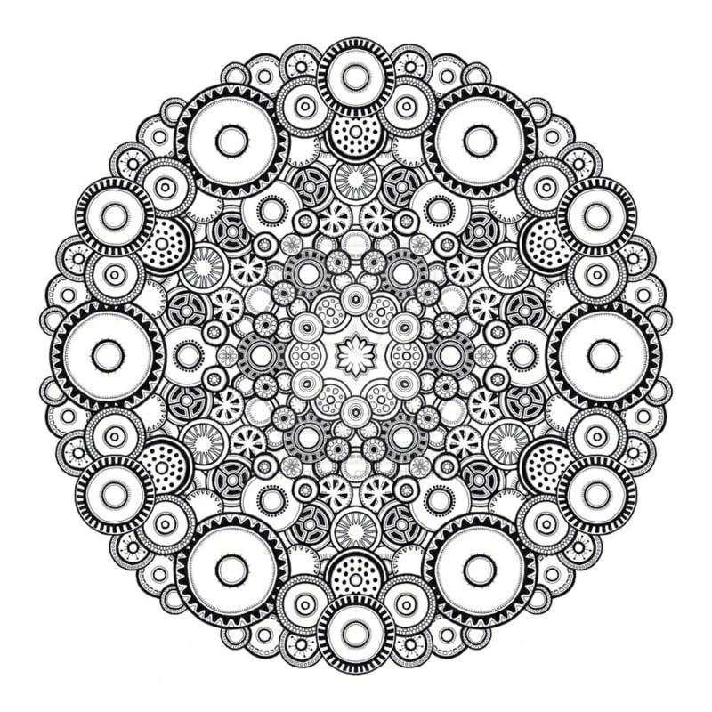 50 Mandala Vorlagen - Stress abbauen - DIY - ZENIDEEN