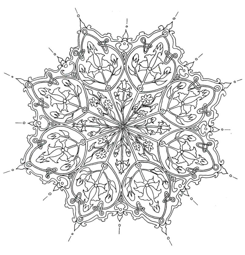mandala vorlagen Gefühl für Formen