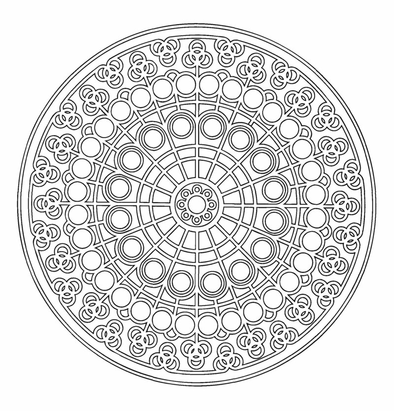 mandala vorlagen Mitte des Kreises