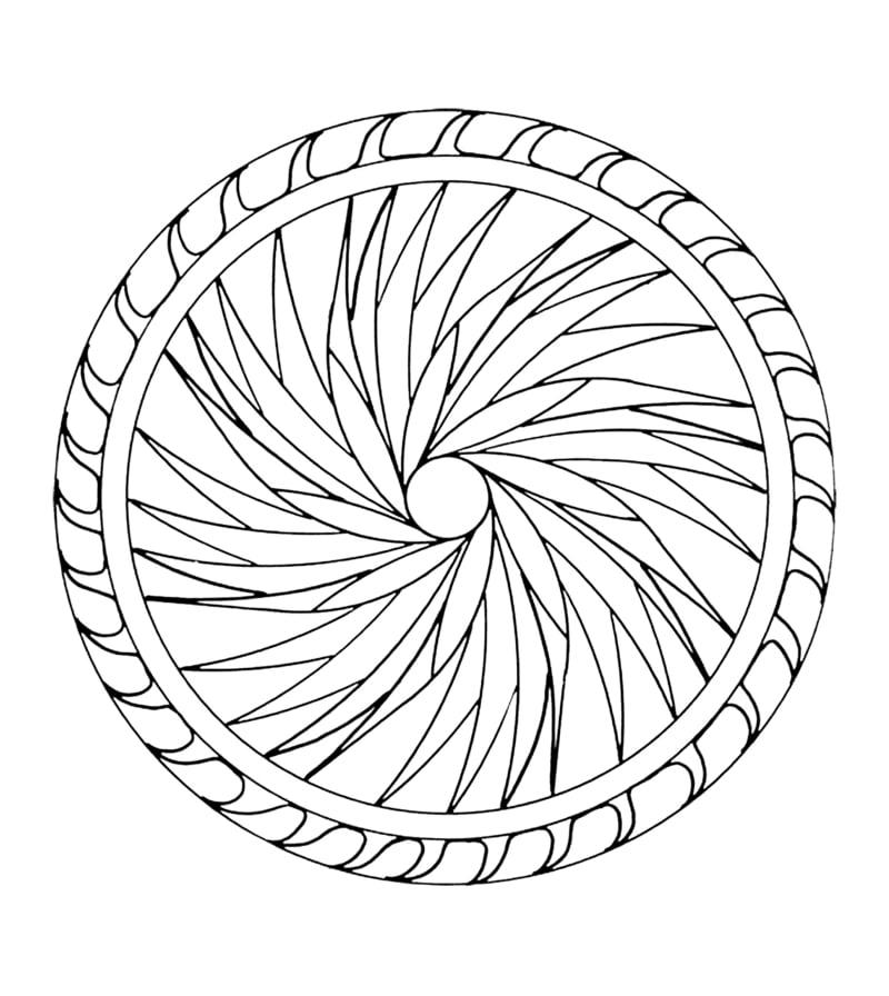 mandala vorlagen Wirkung der geometrische Form