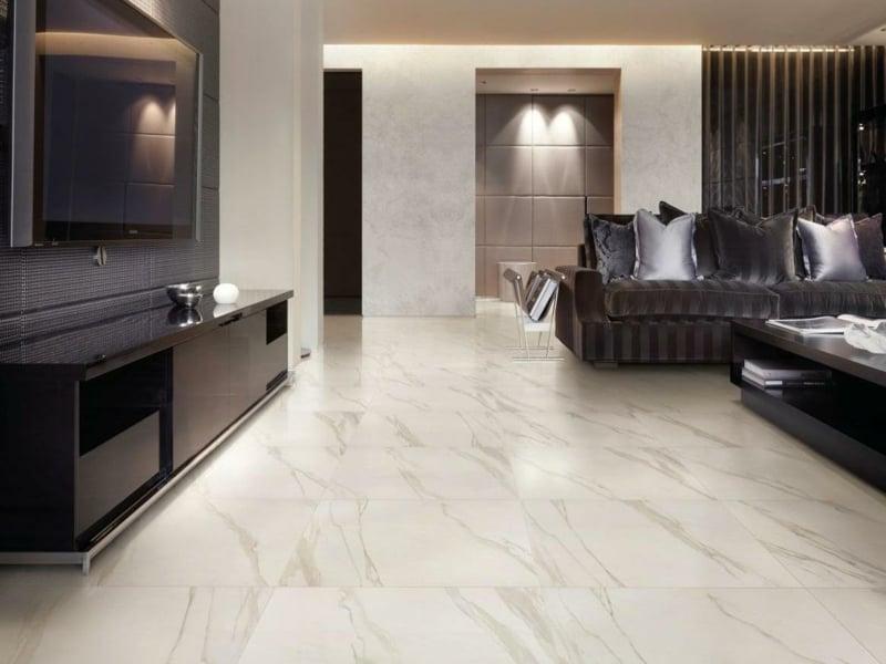 elegante marmorfliesen im wohnzimmer