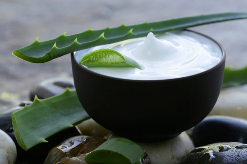 maske gegen pickel aloe