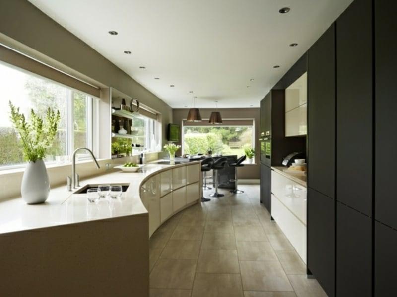 designer matte schwarze kücheninsel