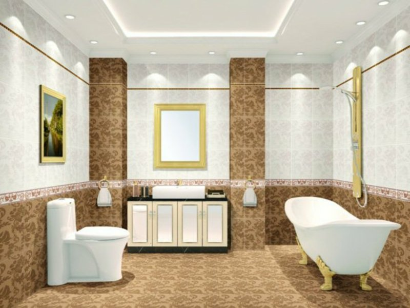 moderne badbeleuchtung im hotel