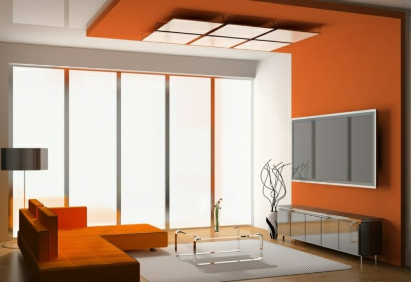 Deckenvrekleidung Orange