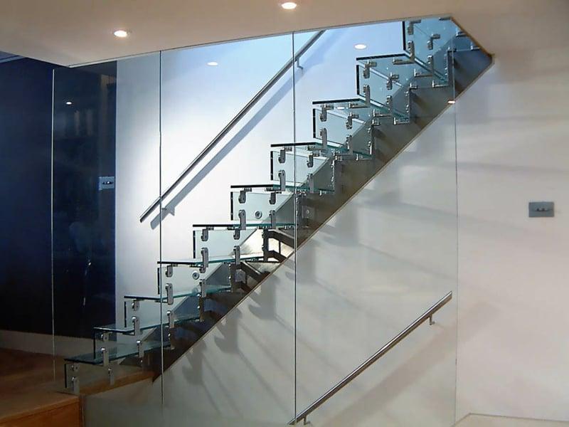 designer schöne glastreppe