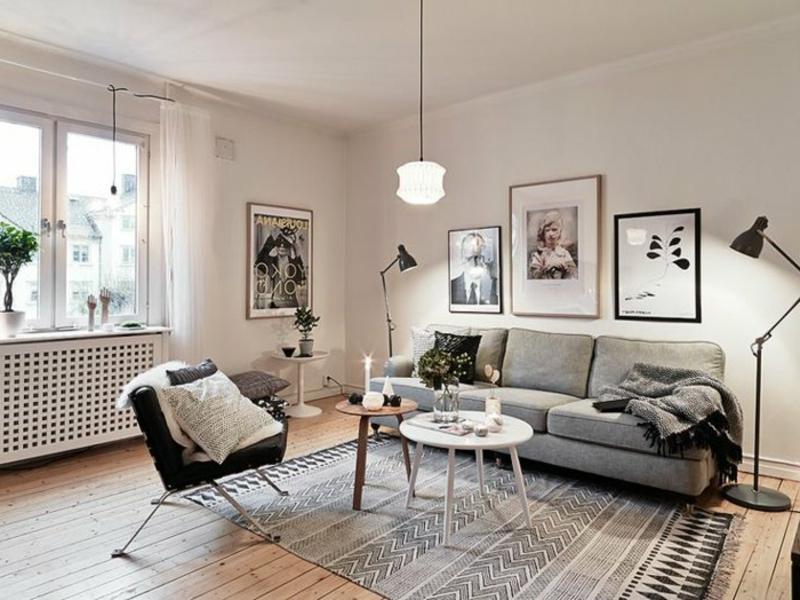 klassiesches wohnzimmerteppich in grau und beigge