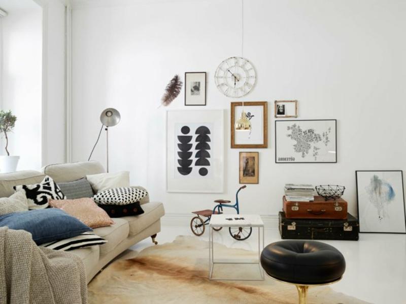modernes wohnzimmerteppich in hellen farben