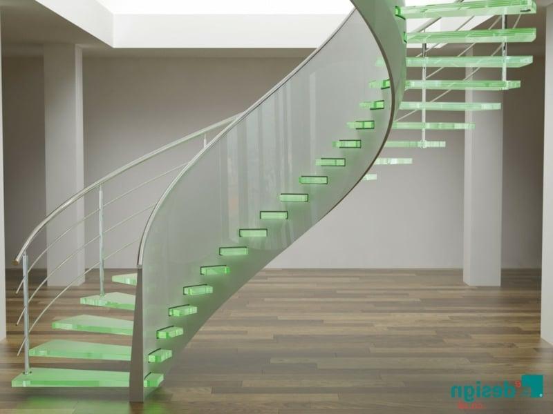 led beleuchtung und moderne treppen
