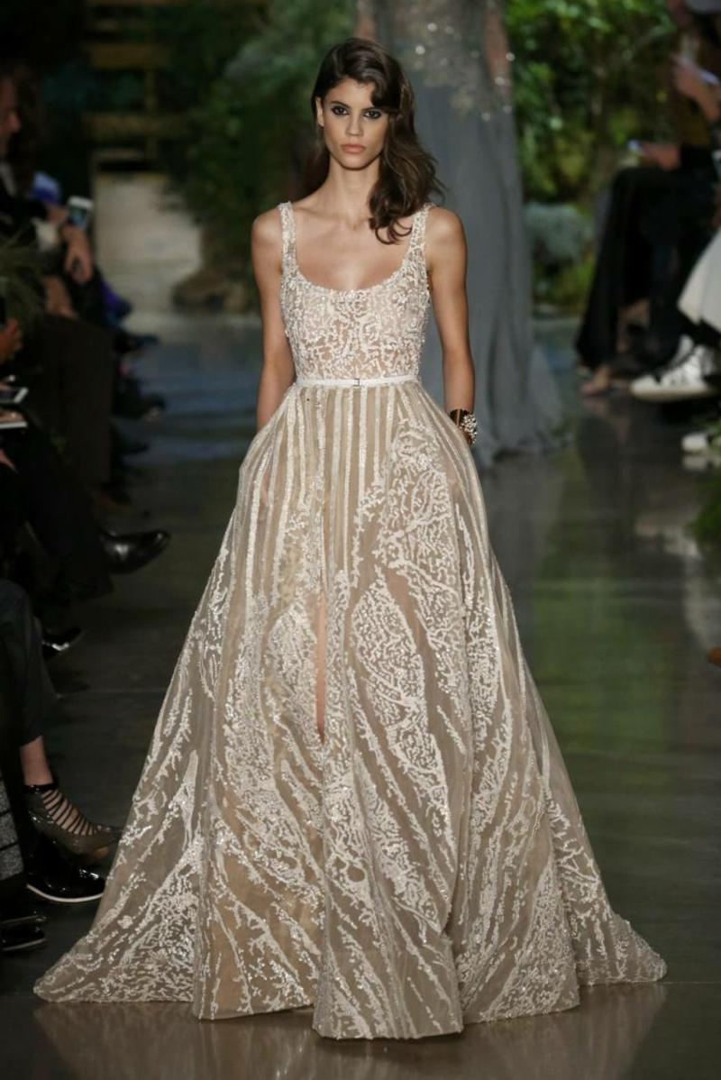Hochzeitskleid Champagnerfarbe