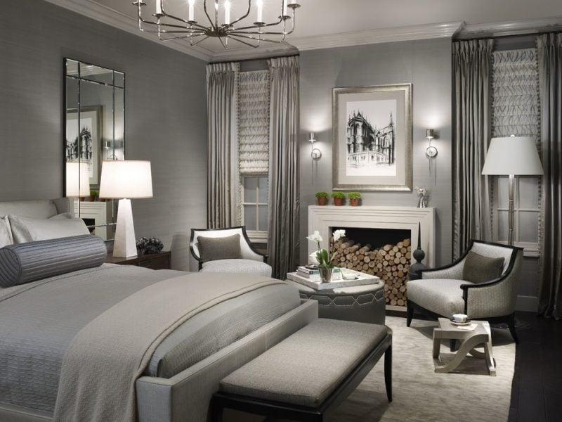 stilvolles Schlafzimmer gestaltet nach Feng Shui