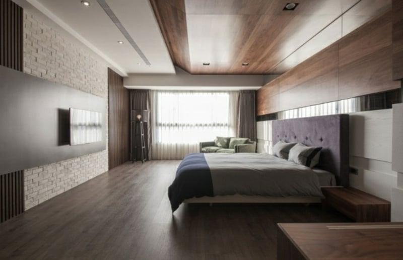 Schlafzimmer Deckenverkleidung Holz