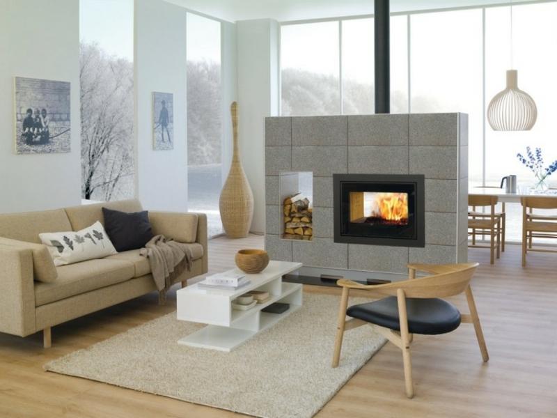 50 tipps f r stilvolle und moderne kamine innendesign - Revestir una chimenea ...