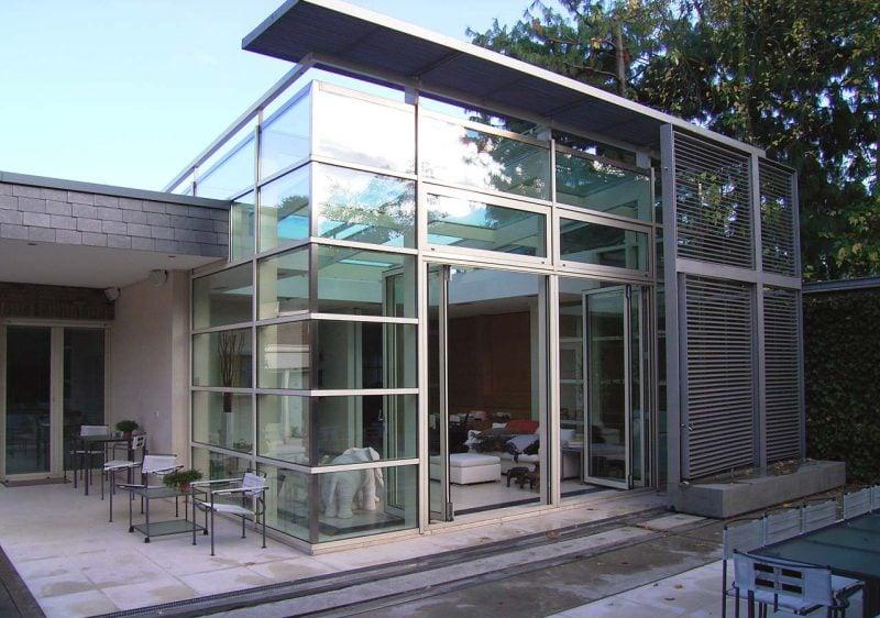 Glasdach Terrasse als Wintergarten