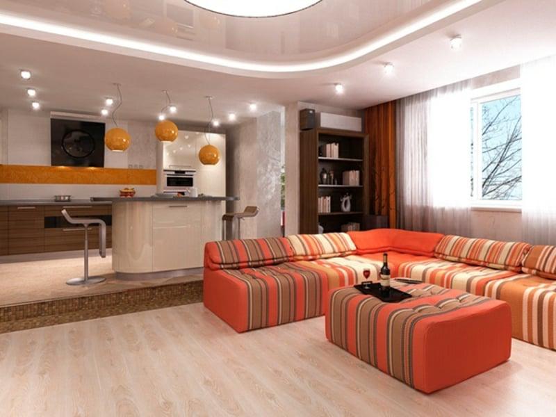 helle Decke Wohnzimmer