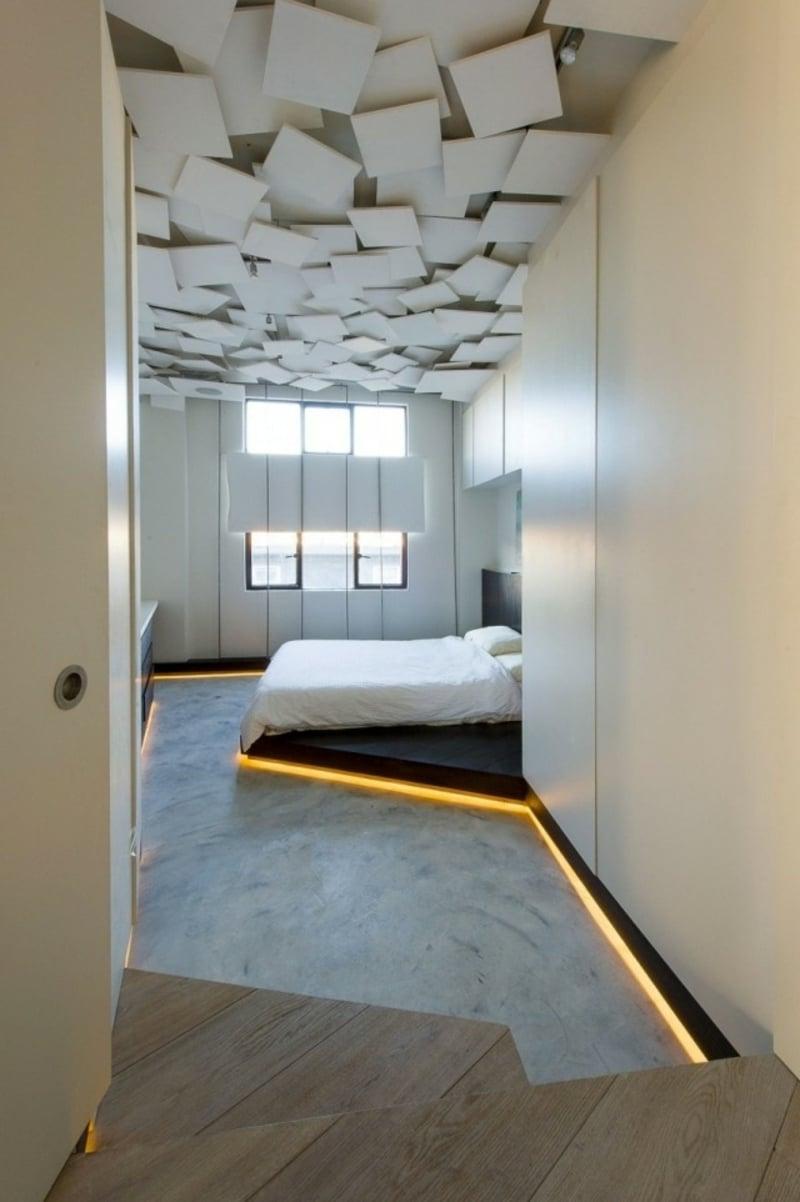 interessante Deckengestaltung schlafzimmer