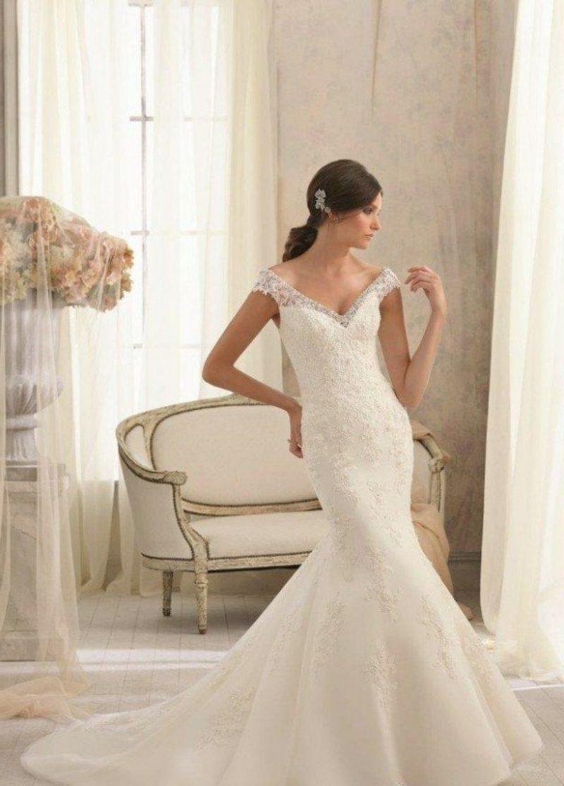 schöne Brautkleider Hochzeitskleid mit Spitze