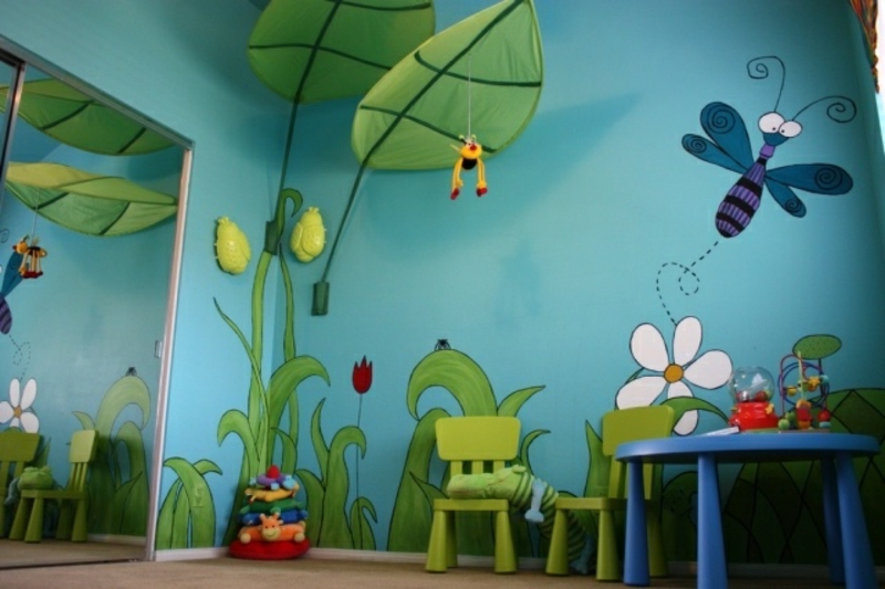 originelle Kinderzimmerdekoration