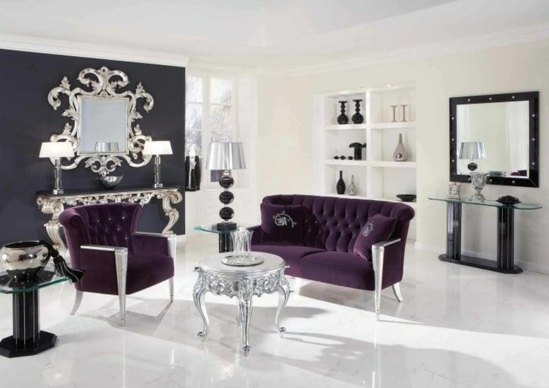 Wohnzimmer mit Möbeln im Barock Stil