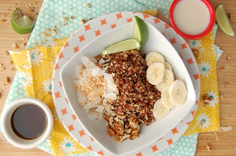 Quinoa Fruhstuck Lime Banane