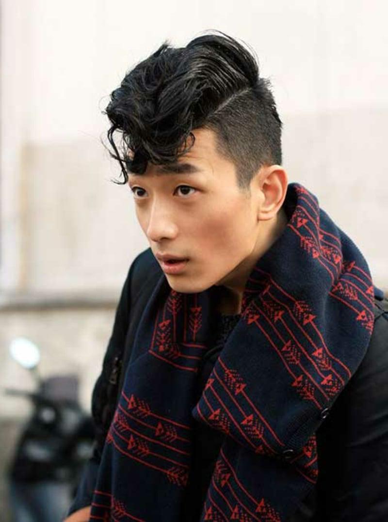 rockabilly-frisuren-männer-Asian Rockabilly Hair with Bangs for Men