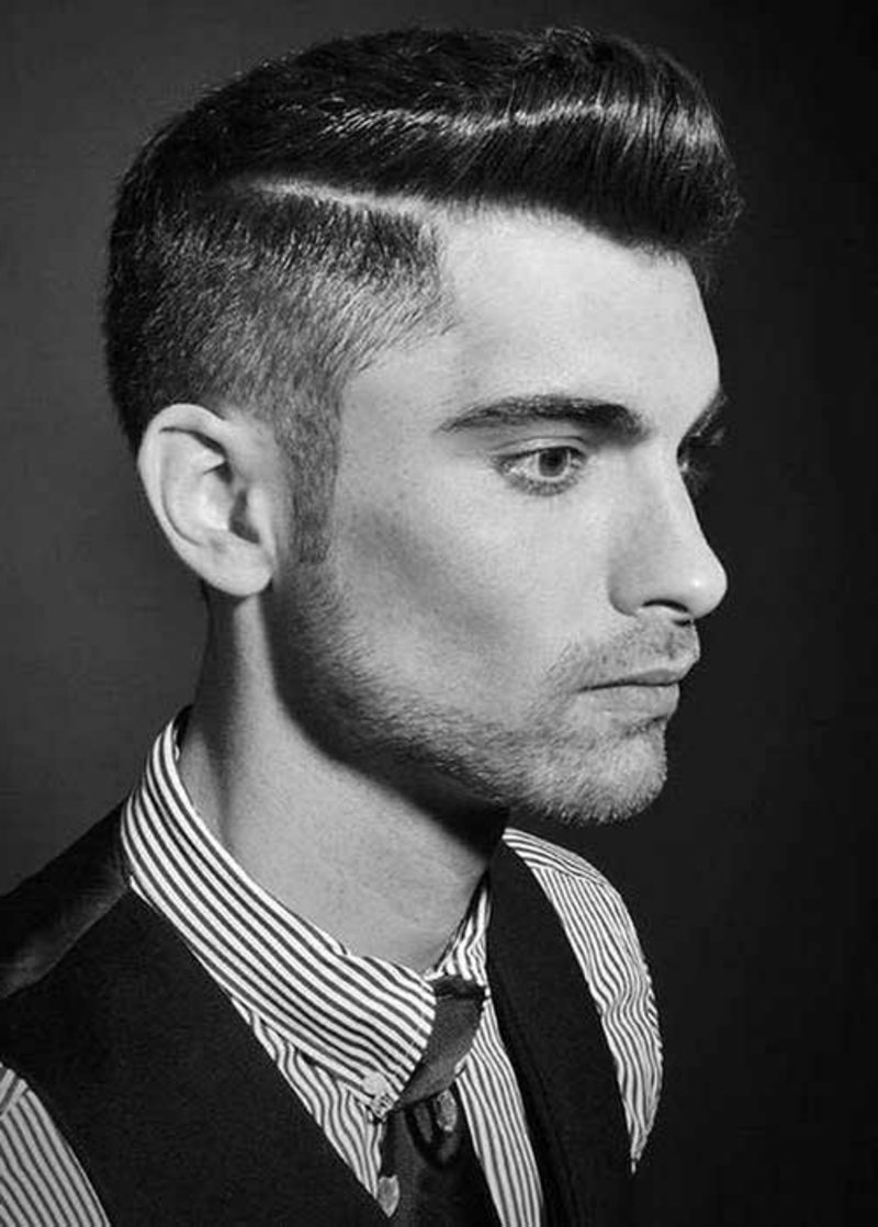 rockabilly-frisuren-männer-Side Swept Rockabilly Hair