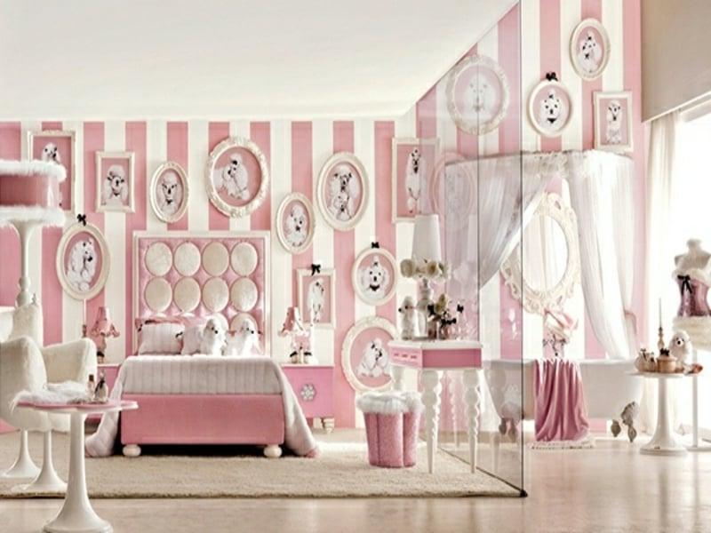 rosa luxus schlafzimmer