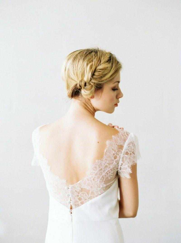 Brautmode Akzent im Rücken