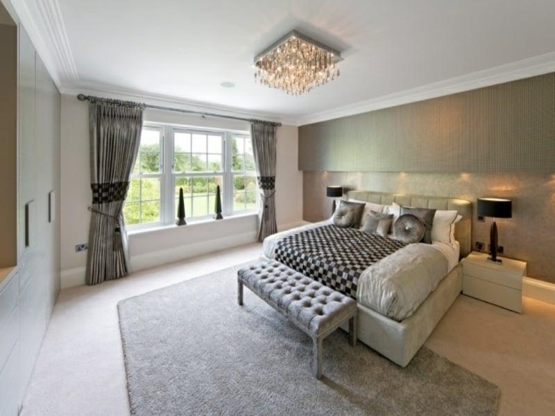 interessante deckenleuchten im luxus schlafzimmer