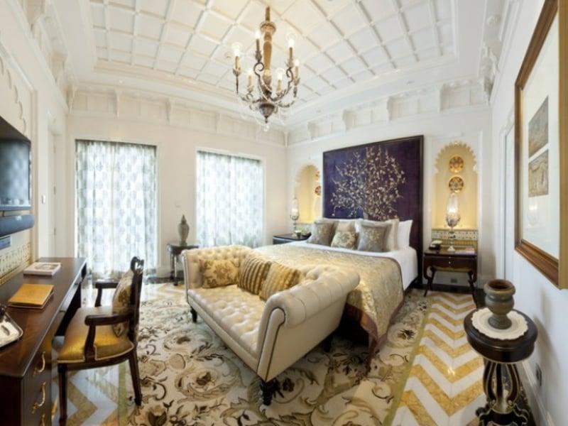 Schöne Moderne Einrichtung Im Luxus Schlafzimmer