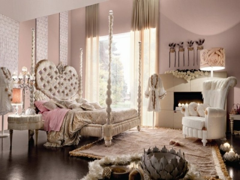 romantisches luxus shlafzimmer in rosa