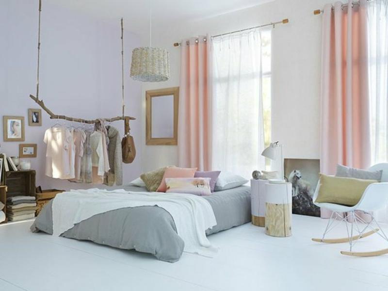 interessante farbgestaltung im schlafzimmer