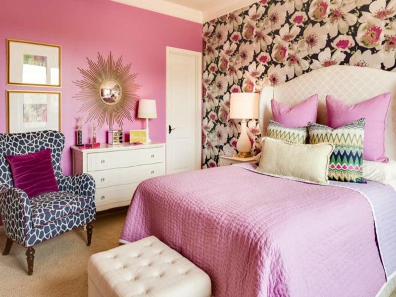 shlafzimmer in rosa farbe