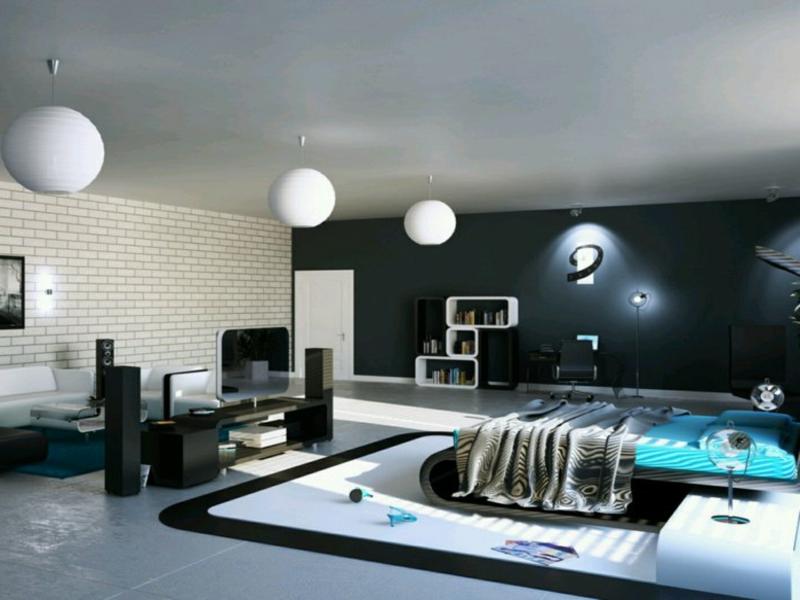sehr minimalistische schlafzimmergestaltung