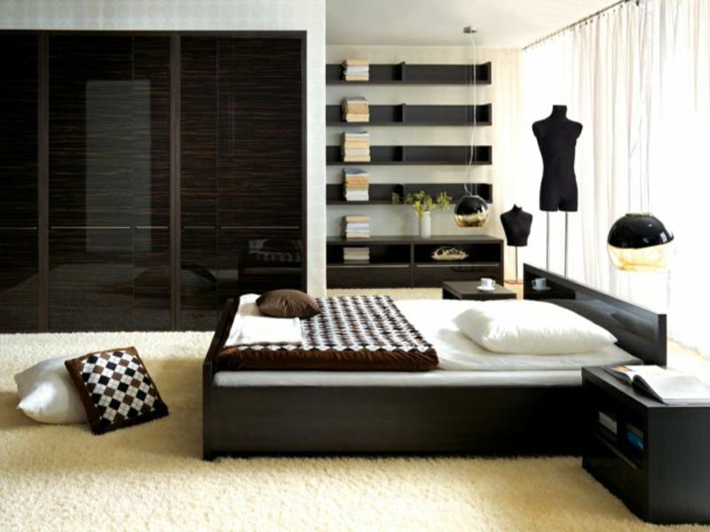 extrem moderner schrank im schlafzimmer