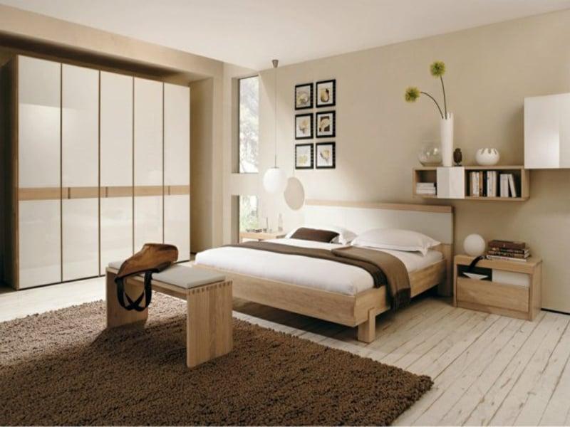 schlichte neutrale farben im schlafzimmer