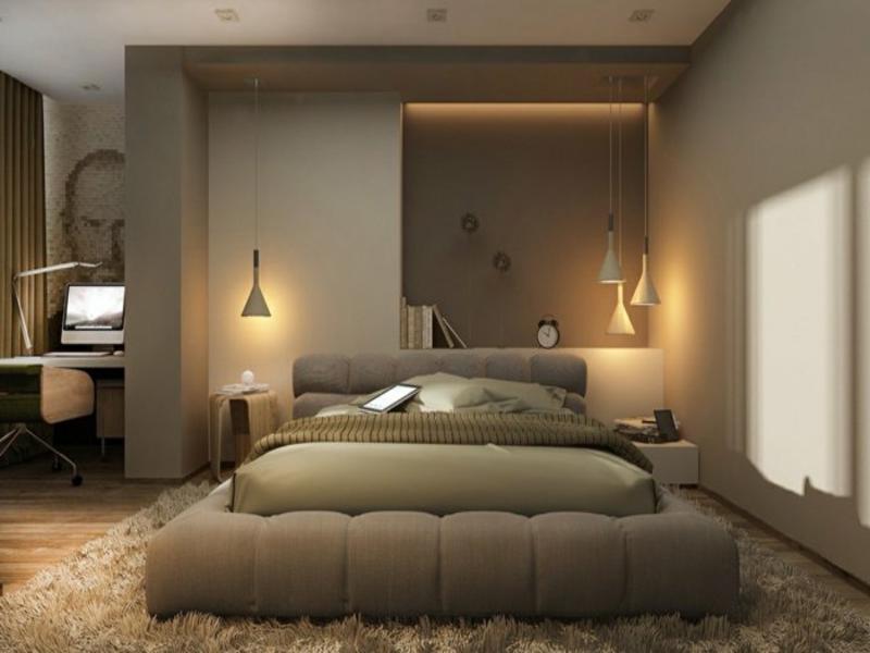 kleine pendelleichten im schlafzimmer