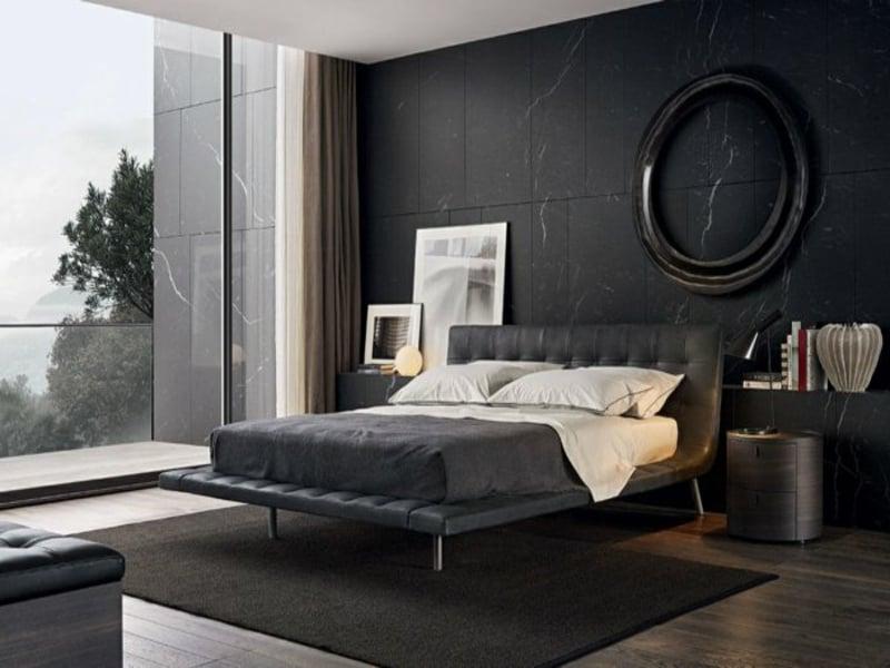 modernes dunkles schlafzimmer