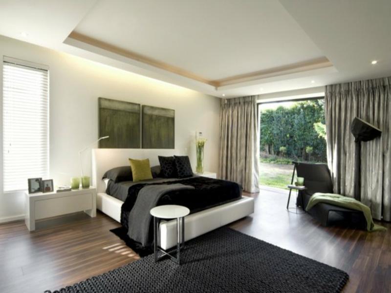schlafzimmergestaltung in schwarzen nuancen